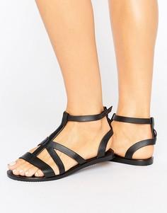 Гладиаторские сандалии Zaxy Dual - Черный