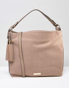 Большая сумка на плечо Carvela Pip - Бежевый