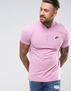 Розовая футболка-поло без воротника Nike 832214-565 - Розовый