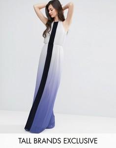 Плиссированное платье макси с эффектом омбре Y.A.S Studio Tall - Мульти
