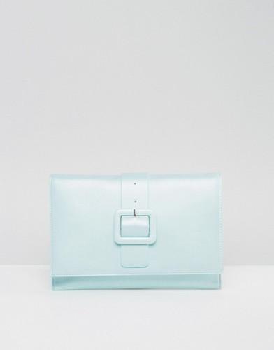 Клатч с металлической пряжкой ASOS - Синий