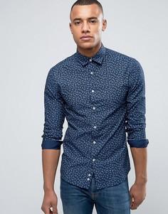 Рубашка с цветочным принтом Celio - Темно-синий
