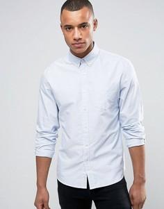 Оксфордская рубашка в полоску с воротником на пуговицах Celio - Синий