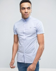 Голубая рубашка скинни 11 Degrees - Синий