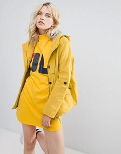 Куртка с высоким воротником Parka London Anja - Желтый