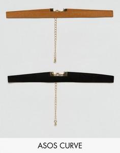 2 фестивальных ожерелья-чокер ASOS CURVE - Мульти