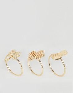 3 кольца ASOS - Золотой