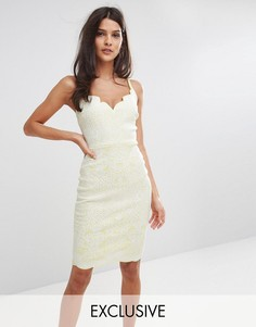 Платье миди с фигурными краями Lipsy - Мульти