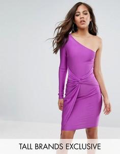 Платье мини на одно плечо с запахом Naanaa Tall - Фиолетовый