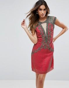 2c66003d82b Платье мини с декоративной отделкой Little Mistress - Оранжевый