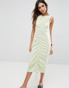 Присборенное платье миди ASOS - Зеленый