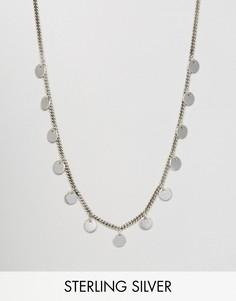 Серебряное ожерелье с дисками Fashionology - Серебряный