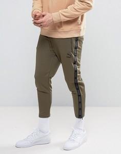 Джоггеры цвета хаки в винтажном стиле Puma - Зеленый