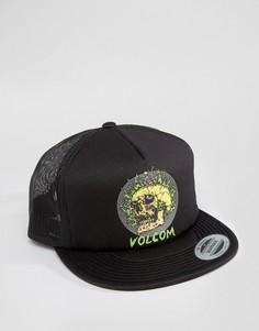 Бейсболка с логотипом в виде черепа Volcom x Tetsunori - Черный