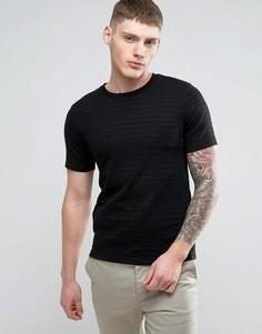 Фактурная футболка Jack & Jones - Черный