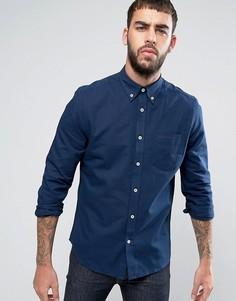 Однотонная оксфордская рубашка классического кроя Ben Sherman - Темно-синий