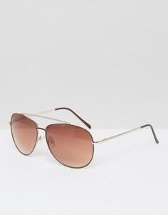 Коричневые солнцезащитные очки-авиаторы AJ Morgan - Коричневый