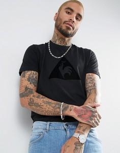 Черная футболка с флоковым принтом Le Coq Sportif Essential 1710345 - Черный