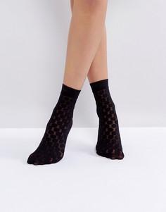 Черные носки в горошек Jonathan Aston - Черный