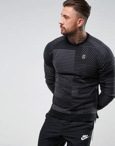 Черный свитшот с геометрическим принтом Nike 848632-010 - Черный