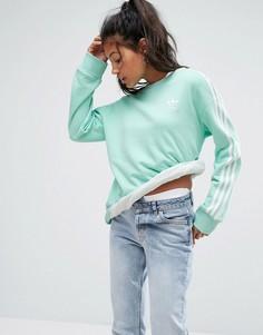 Свитшот мятного цвета с тремя полосками adidas Originals - Зеленый