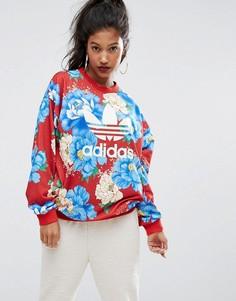 Свитшот с цветочным принтом adidas Originals - Мульти