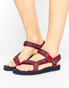 Сандалии с мозаичным принтом Teva Original - Красный