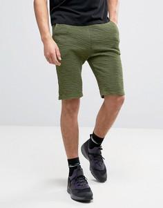 Фланелевые трикотажные шорты цвета хаки SikSilk - Зеленый