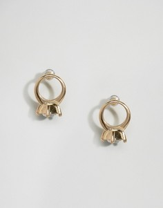 Серьги-гвоздики с кольцом ASOS - Золотой