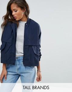 Легкая укороченная куртка-рубашка Vero Moda Tall - Темно-синий