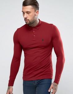Красная обтягивающая футболка-поло из пике ASOS - Красный