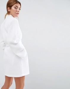 Вафельный халат из 100% хлопка ASOS - Белый