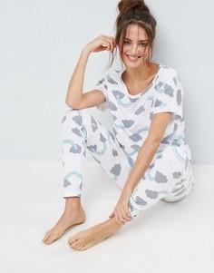 Пижамный комплект из футболки и леггинсов с радугой ASOS - Мульти