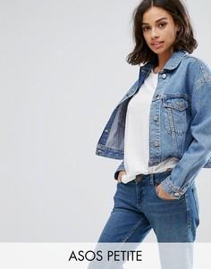 Синяя выбеленная джинсовая куртка ASOS PETITE - Синий