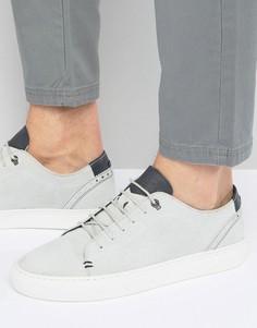 Замшевые кроссовки с тиснением Ted Baker Kiing - Серый