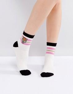 Носки с вышивкой тигра ASOS - Мульти