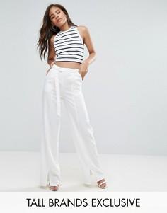 Укороченные брюки Missguided Tall - Кремовый
