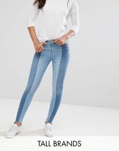 Двухцветные джинсы скинни New Look Tall - Синий