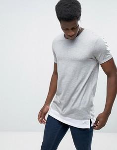 Удлиненная футболка Esprit - Серый