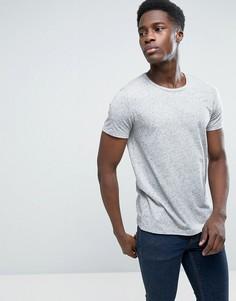 Серая футболка в крапинку с круглым вырезом Esprit - Синий