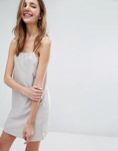 Платье с эффектом металлик Monki - Серый