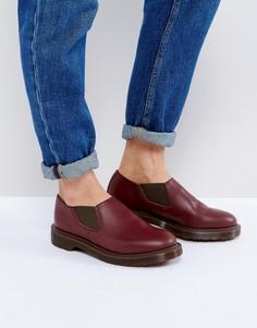 Кожаные туфли на плоской подошве Dr Martens Louis - Красный