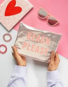Розовый клатч с эффектом металлик South Beach - Розовый
