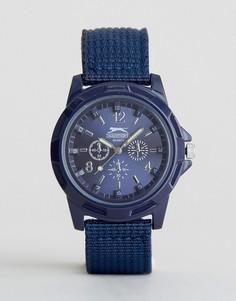 Темно-синие часы с нейлоновым ремешком Slazenger - Темно-синий
