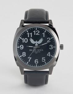 Черные часы с черным циферблатом Brave Soul - Черный
