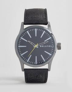 Часы с черным ремешком и циферблатом Bellfield - Черный