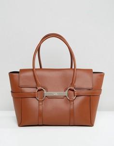 Светло-коричневая сумка-тоут с металлической планкой Fiorelli Barbican - Рыжий