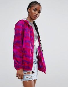 Розовая камуфляжная куртка-дождевик ASOS - Розовый