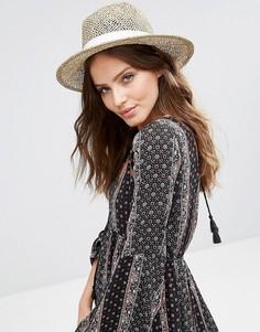 Плетеная шляпа Hat Attack - Бежевый