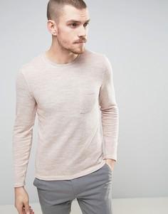Свитшот с карманом Selected Homme - Розовый